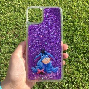 ✨HP✨ Eeyore Disney Quicksand Glitter iPhone Case